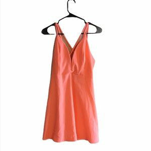 SOLEMIO coral Size Medium Fitted skater dress
